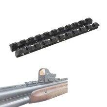 Per TOZ 34 Ventilato Costola Rail 8 mm Weaver Picatinny Adattatore di Montaggio In Acciaio Nero