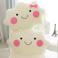 Cute Cartoon Cloud Smiley Face Pillow 35CM 45CM Soft Plush Fleece Throw Pillows Home Car Decor