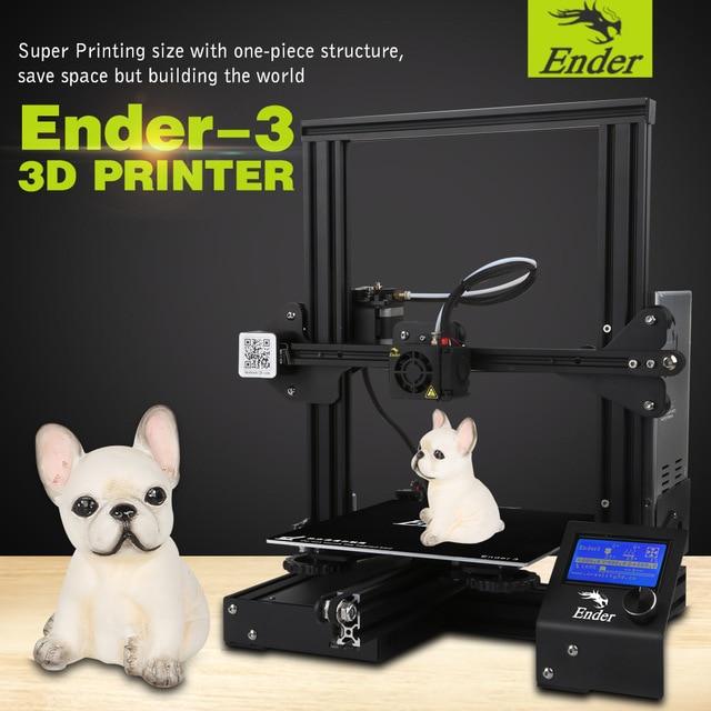 Global sale Ender-3 Creality 3D printer V-slot prusa I3 Kit Resume Power Failure Printer 3D DIY KIT 110C for Hotbed metal frame linear guide rail for xzy axix high quality precision prusa i3 plus creality 3d cr 10 400 400 3d printer diy kit