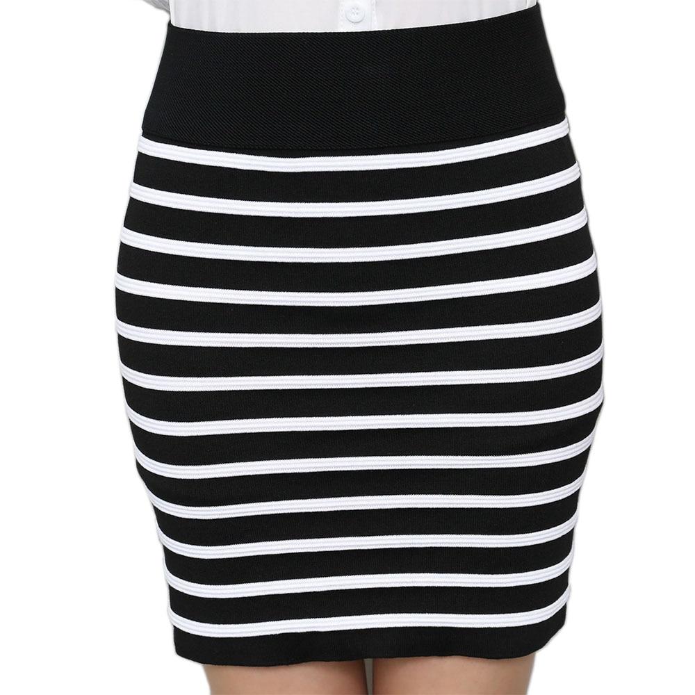 ANASUNMOON Mini Skirts Knitting Trend Vintage High-Waist Women Casual Ladies for Spring