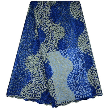 Best Serviecs,2017 Newest 100% Polyester Mesh Embroidered Nigerian Beaded Lace Fabrics High quality French Tulle lace fabric