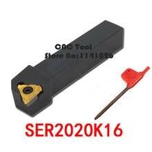 SER2020K16/SEL2020K16, резьбовой токарный инструмент заводские магазины, токарный станок набор токарных инструментов внутренний токарный инструмент с ЧПУ индексируемый b