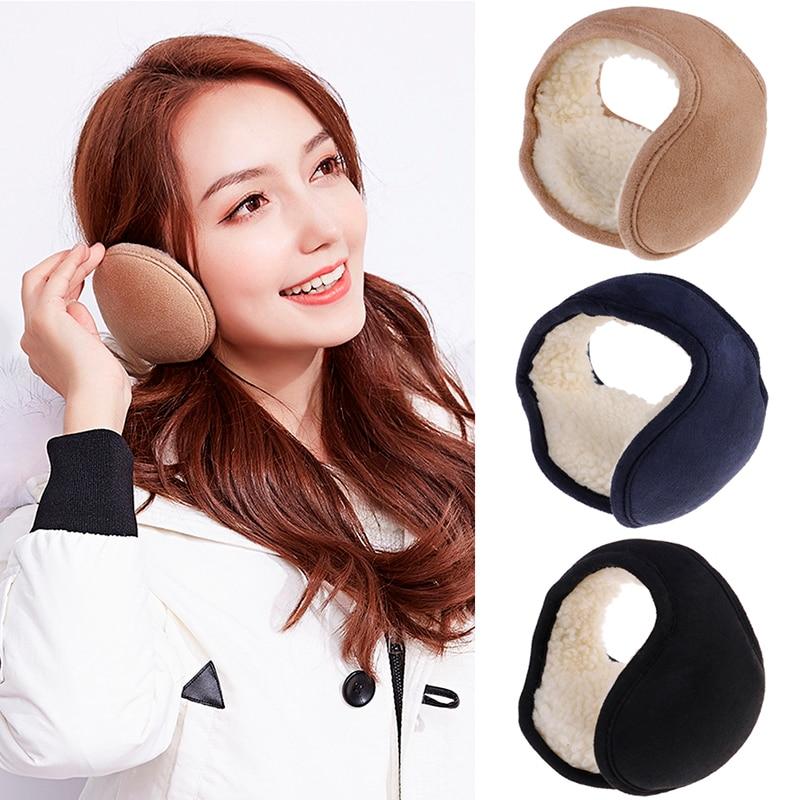 1pc Winter Foldable Ear Muffs Back Wear Ear Warmers Warm Plush Earflap Adjustable Ear Cover For Men Women