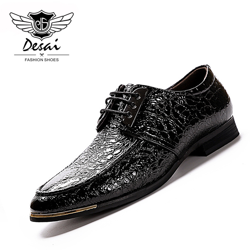British Style Men's Shoes Glossy Genuine Leather Business Dress Casual Shoes Fashion Gentleman Lace Up Leather Shoes beffery 2018 british style patent leather flat shoes fashion thick bottom platform shoes for women lace up casual shoes a18a309