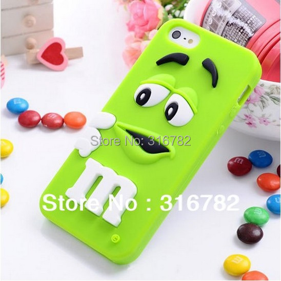 3d colorful candy color cute lovely mm silicone cell phone case cover for iphone 5 5s - Buy Candy By Color