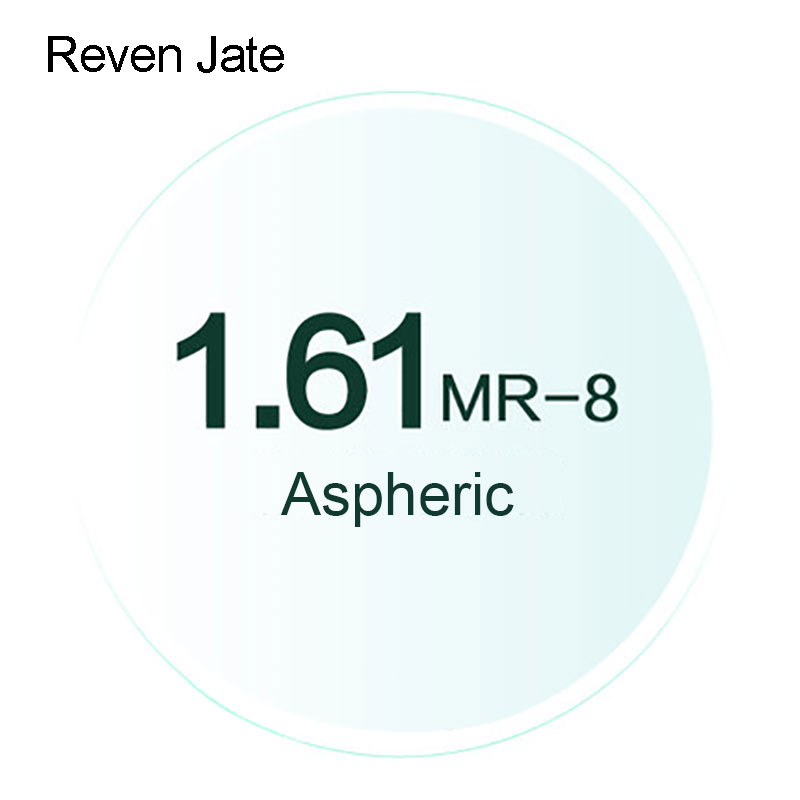Reven Jate MR-8 Resep Optik Lensa Berwarna Super Tenacious 1.61 Lensa Optik Aspheric UV400 Padat dan Gradien Berwarna