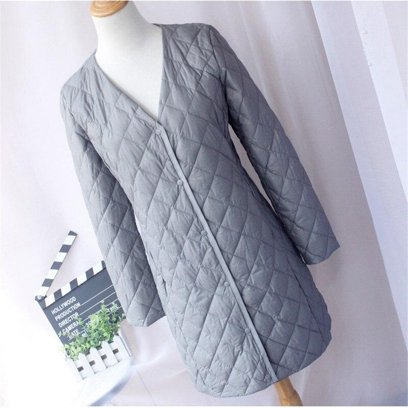 Two Wears Autumn Winter Women White Duck   Down   Jacket Female Ultra Light   Down     Coat   Parka Thin Long Outwears Plus Size 4XL AB1214