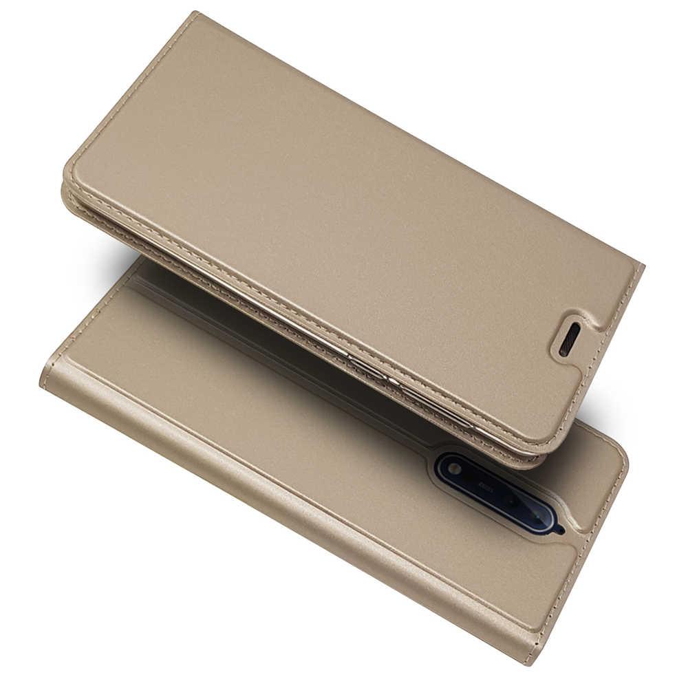 יוקרה עור Flip ספר מקרה עבור Nokia 2 3 5 6 7 8 9 5.1 6.1 בתוספת 2.1 7.1 8.1 מגן טלפון כיסוי מעטפת עם 1 כרטיס חריץ