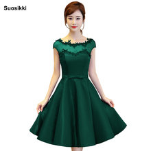 Suosikki NewShort Prom Dresses 2018 Elegant A-Line Red Formal Dress short Evening dress elegant Vestido De Festa Curto