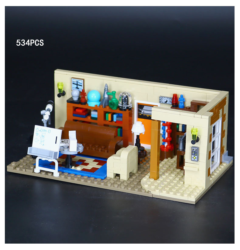 Hot American TV series The Big Bang Theory TBBT building block Sheldon Leonard Amy figure brick 21302 toys for kids gifts