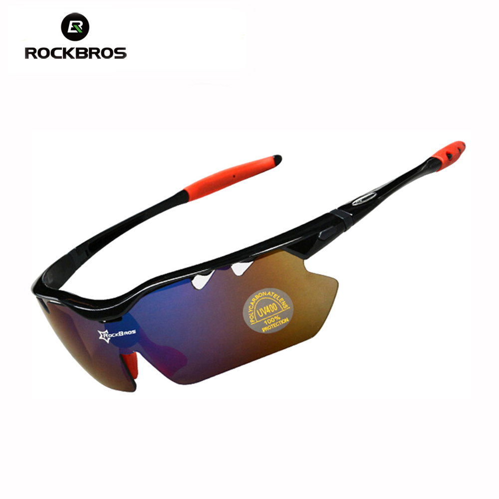 Hot! RockBros Polarized Sun Glasses Outdoor Sports Bicycle Glasses Bike Sunglasses TR90 Goggles Eyewear 5 Lens #10013 veithdia men sunglasses polarized lens driver mirror sun glasses driving fishing outdoor sports eyewear wholesale 3320