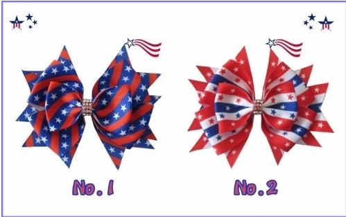 100 BLESSING Good Girl 4.5 Stylish Hair Bow Clip National Flag Independence Day blessing and love big or retail a good gift for weddin new guaranteed 100