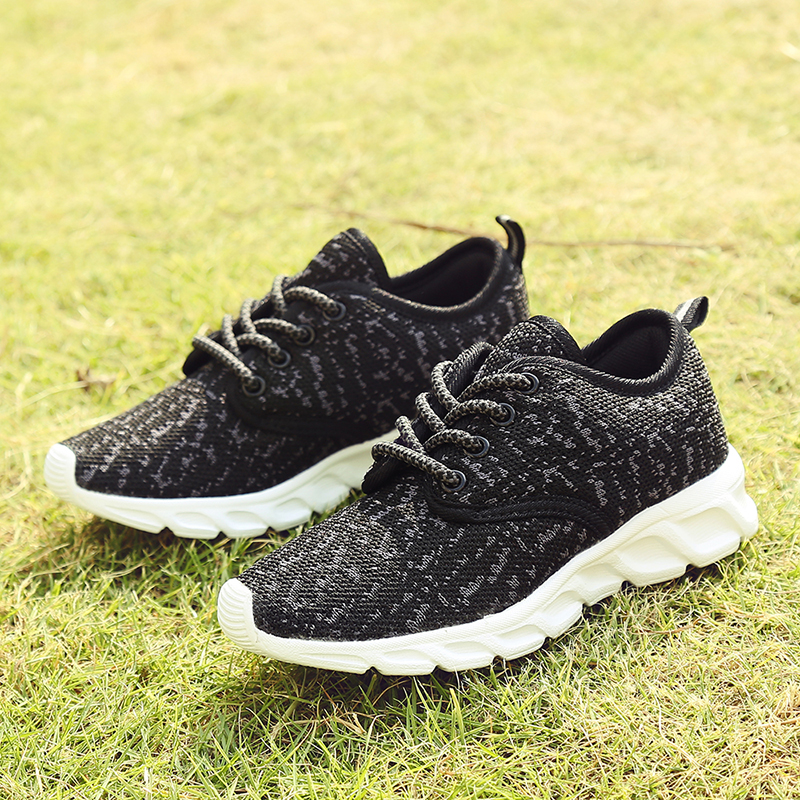 New Flying Weave Sports Men and women Childrens shoes Dazhong Tong Light Breathable Mesh Running shoes Pink