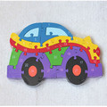 HOT Baby Kids Training 26 Alphanumeric cognitive building  puzzle Car SEP 01