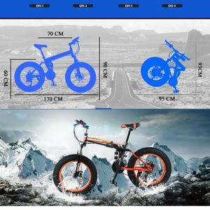 """Image 4 - Sói Phương Xe Đạp 20 """"X 4.0 Xe Đạp 21 Tốc Độ Xe Đạp Đường Bộ Mỡ Xe Đạp Tốc Độ Biến Đổi Xe Đạp phanh Đĩa Cơ"""