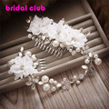 Elegance Flower Bridal Hair Comb Forehead Flower Headpiece Weddings Hair Accessory
