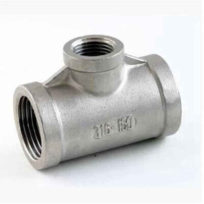 "1"" to 1/4"" to 1'' BSP Female Thread 304 Stainless Steel Reducing Tee Type 3 Way Pipe Fitting Connector for Tube Connection"