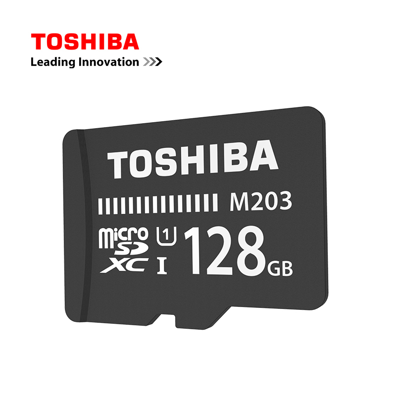 Original TOSHIBA M203 Micro SD Card UHS-I 16GB 32GB MicroSDHC 64GB 128GB MicroSDXC Flash Memory Card U1 Class10 FullHD TF Card