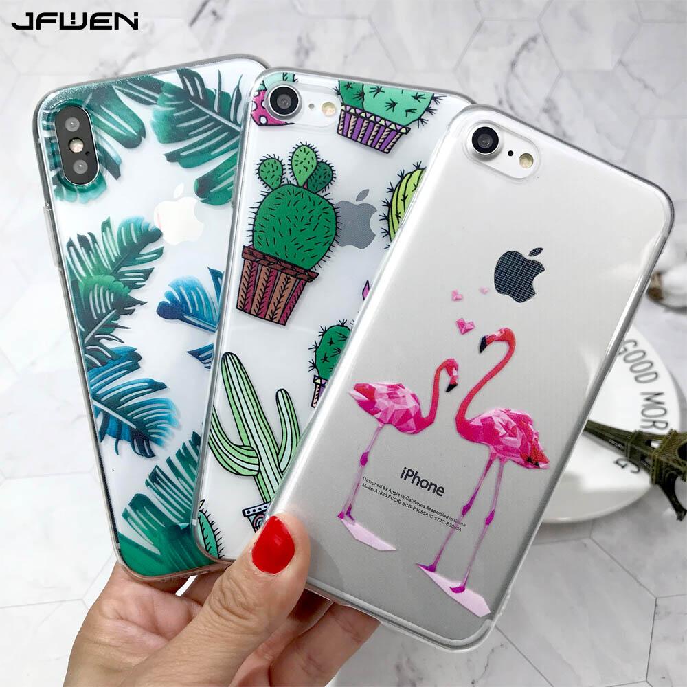 JFWEN Cas Pour Coque iphone X 8 7 6 Plus XS Max XR Cas Silicone Souple TPU coques de téléphone Pour iphone XS 7 8 6 6 S Plus X Couverture De Cas