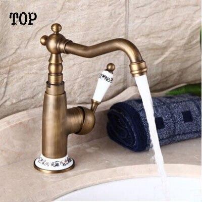 ФОТО Classic antique ceramic faucet antique bronze faucet vintage US style faucet bathroom sink mixer bronze antique water faucet