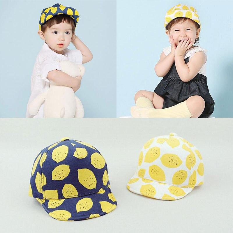 Hot Sale Lemon Baseball Cap Summer Sun Hat Baby Boy Girl Toddler Kids 1PC