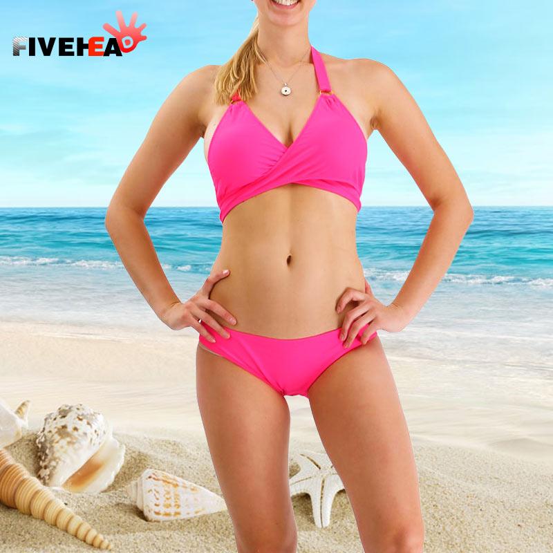 Urlaub sexy reine Farbe Bikini Design große Brust Dreieck & kleine - Sportbekleidung und Accessoires - Foto 2