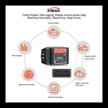 ELM327 OBD2, WIFI Bluetooth V1.5, compatible con Android/iOS, herramienta de diagnóstico de coche con PIC18F25K80 ELM 327, escáner de código de coche diésel