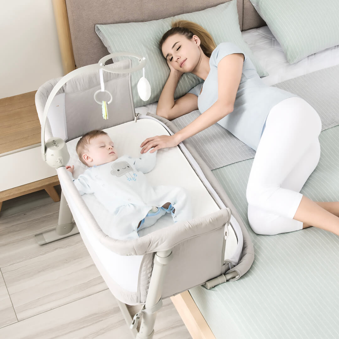 Baby Care Bed With Bedbell Portable Infant Travel Sleeper Cot Sleeper Breathable Folding Crib Toddler Cradle