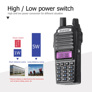 Image 4 - Baofeng UV 82 Walkie Talkie Dual PTT UV 82 Portable Two way Radio VHF UHF Ham CB Radio Station 1Pcs UV82 Jagd Transceiver