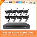 8ch Cctv Câmera Sem Fio Kit 720 p Nvr 8 pcs 1.0mp Bala Impermeável Ao Ar Livre Sistema de Vigilância Ip Webcam Segurança Quente venda