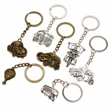 Creative DIY Airplane Keychain Car Key Chain Accessories Men Transportation Keyring Handmade Souvenir Teacher Gift