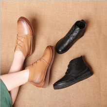 Spring Autumn Fashion Loafers 100% Genuine Leather Single Shoes Soft Casual Flat Shoes Women Flats mother shoes цены онлайн