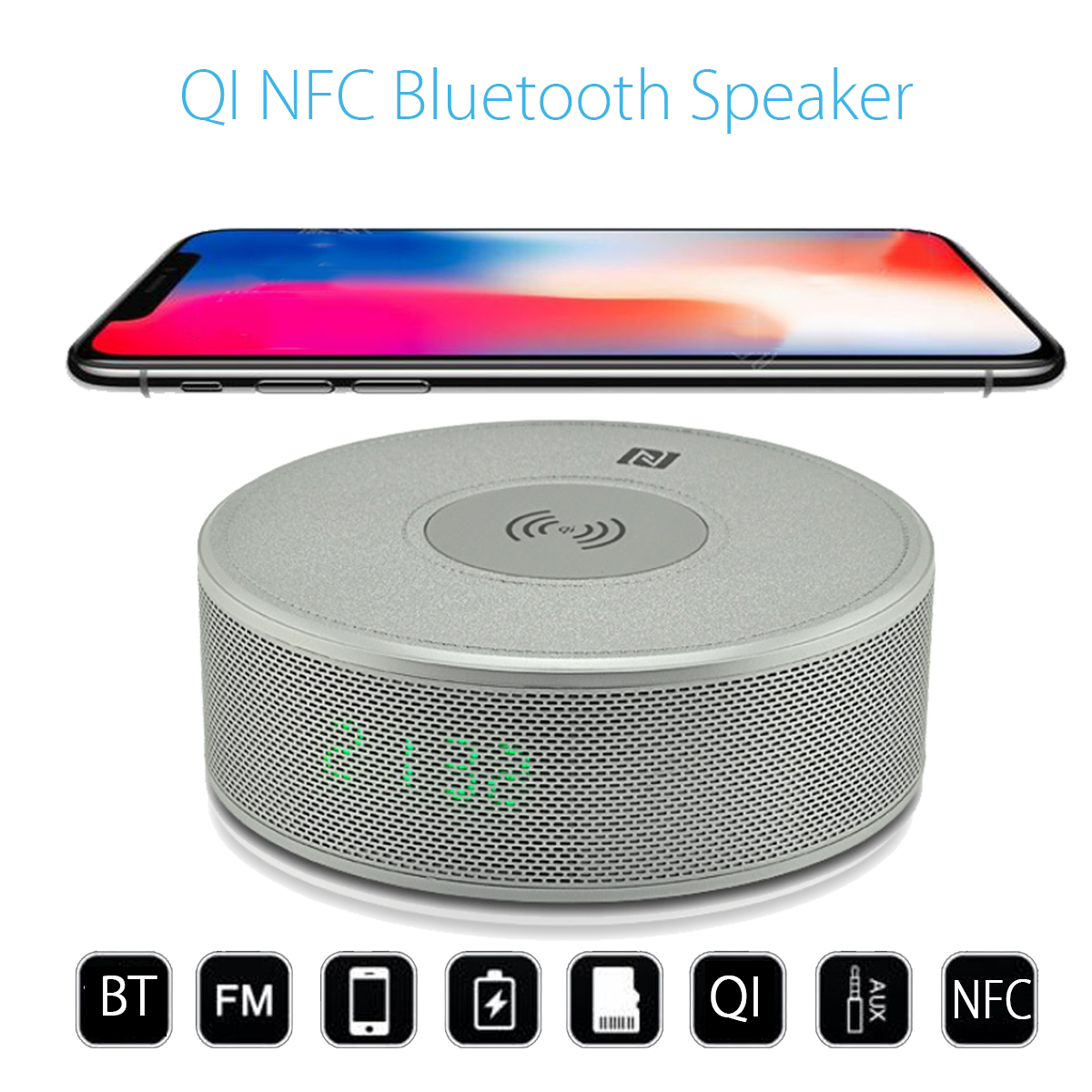 Multifunction Qi Wireless Nfc Bluetooth Speaker Portable Radio Loudspeaker Mobile Phone Charger Charging Pad Docking Station Portable Speakers Aliexpress