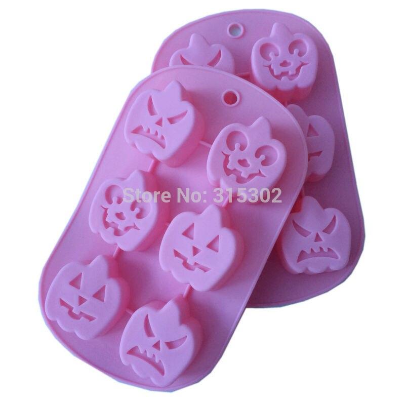 1pcs halloween pumpkin shape muffin little cake tool jello art chocolate mould homemade cupcake cake decorating tool