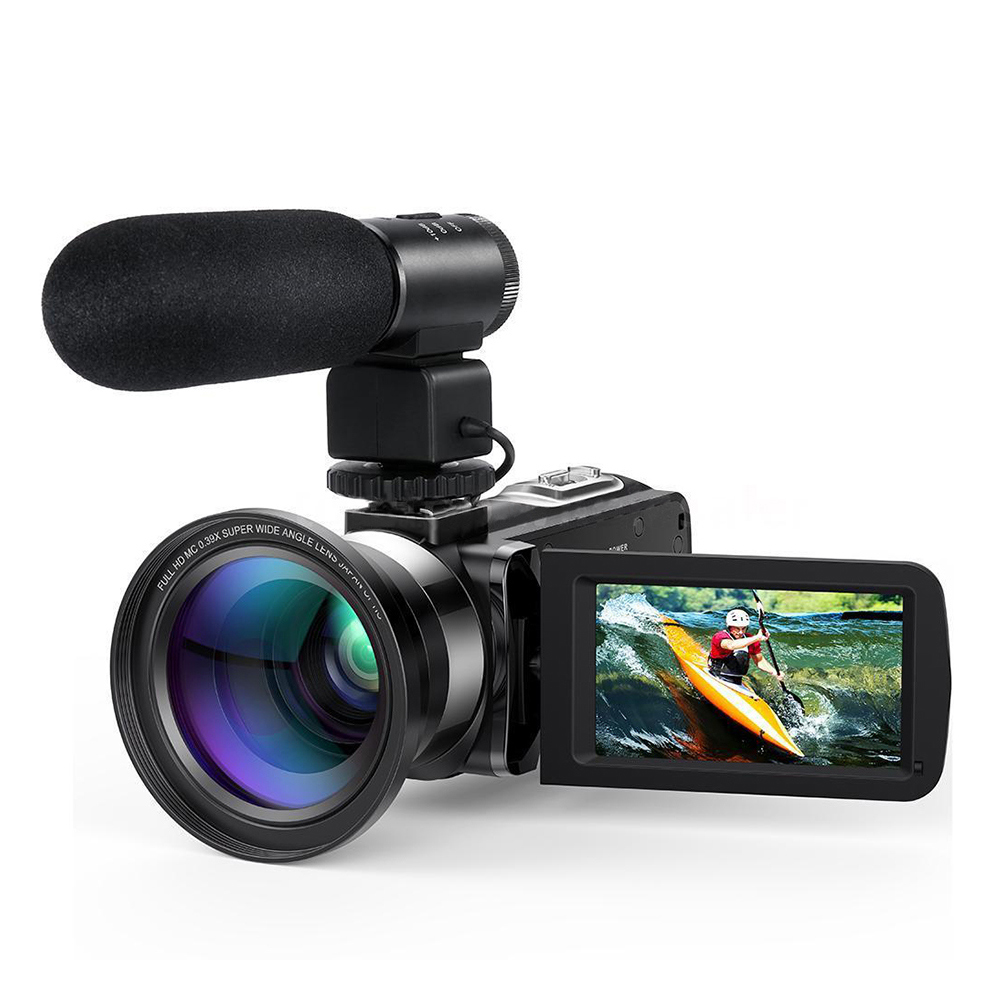 HD 1080P LCD Touch Screen Video Camera 16X Zoom Night Vision 24MP Digital Camcorder Remote Control Wide Angle Lens/Mic Cameras