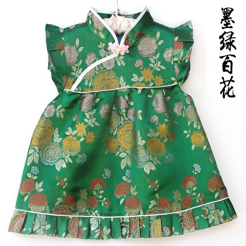 2018 frühling Sommer Geschenk Gre Baby Mädchen Kleidung Anzüge t shirts kurze hosen set qipao set für kinder Chinesische Cheongsams