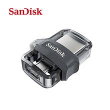 Двойной OTG USB флеш-накопитель SanDisk USB 3,0 мини-накопитель 32 Гб 16 Гб 128 Гб 64 Гб флешки для ПК и телефонов Android