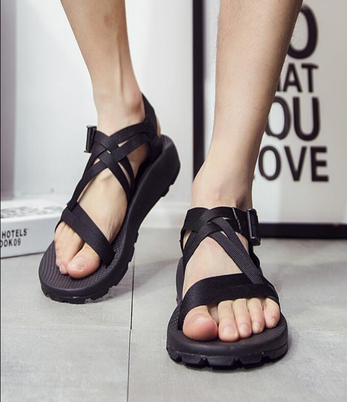 Male Non-Slip Rubber Shoes 2016 Vietnamese Sandals Roman Fashion Casual Shoes Men Summer Beach Sandalias Masculinas 35-41