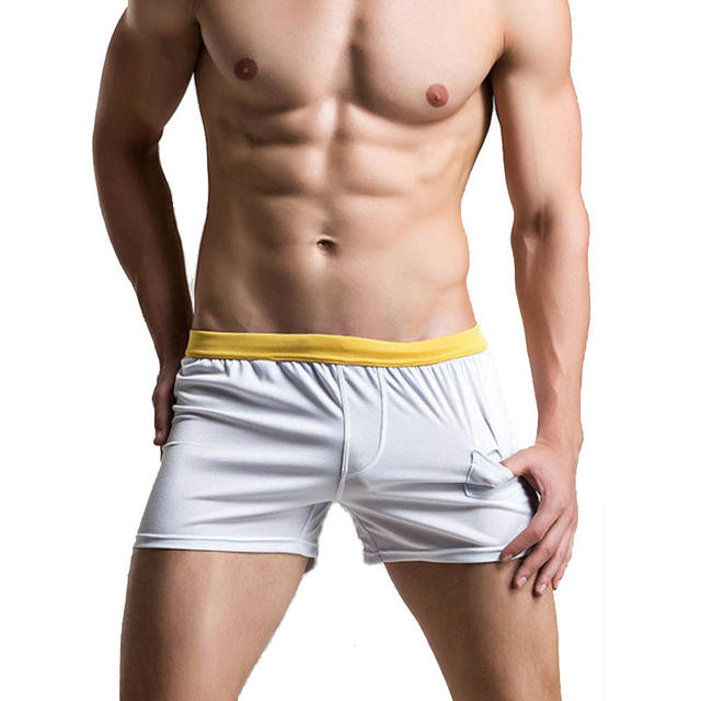 Solid Summer Spring Polyester Net Breathable hort Sleep Wear Men Casul Pajama Pants Homewear Sleep Bottom For Mens