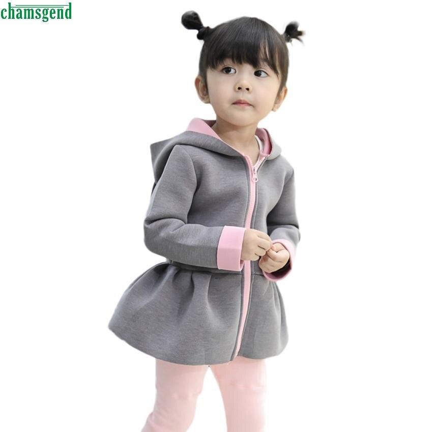 CHAMSGEND Kind Baby Mädchen Herbst Winter Kaninchen Weste Hoodie Coat Warm Outwear Kleidung MAR29 P30