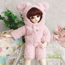 Subcluster  Doll Clothes1 Pcs Cute Pink Plush Rabbit Body Suit for 1/4 BJD SD Accessories Clothes No Dolls