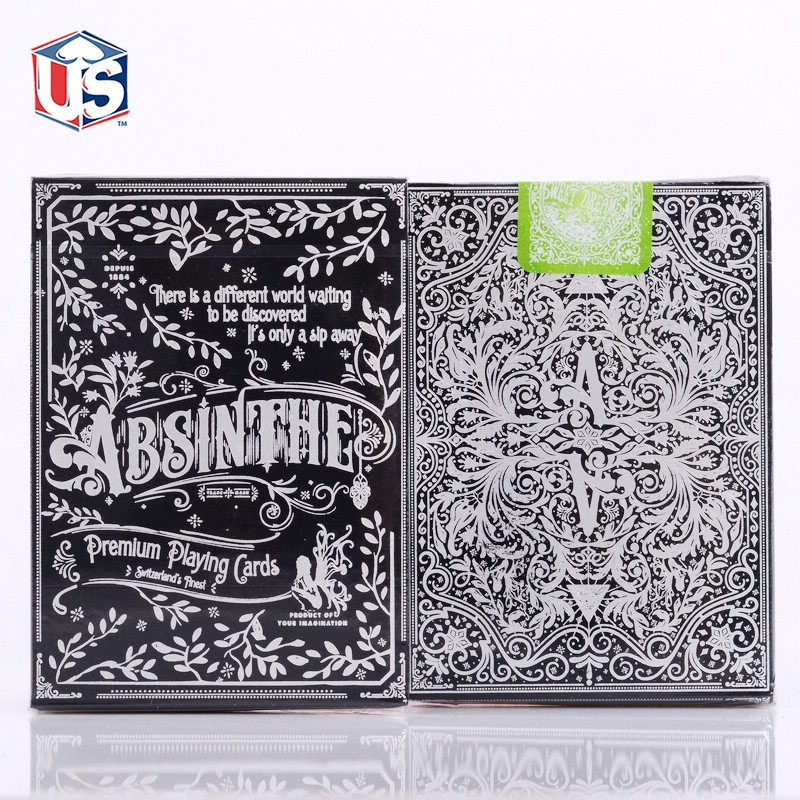 1 Deck Absinthe V2 Playing Cards Ellusionist Poker Size Deck Magic Tricks