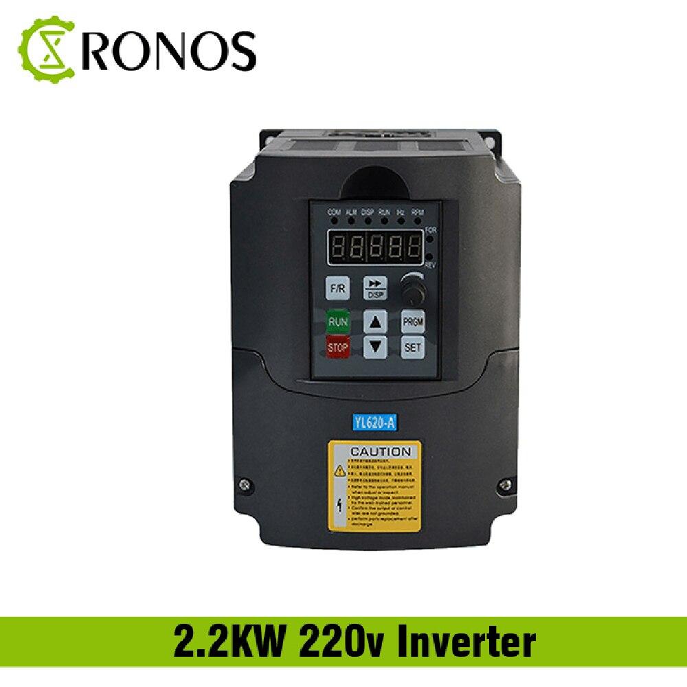220 V 1.5KW 2.2KW monophasé entrée et convertisseur de fréquence de sortie 3 phases/variateur de vitesse réglable/convertisseur de fréquence/VFD