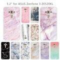Для Asus Zenfone 3 ZE520KL камень задняя крышка Ясно Мягкая силиконовая Обложка из ТПУ DIY телефон чехлы для Asus Zenfone 3 ZE520KL Shell - фото