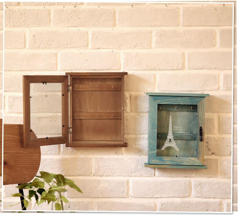 Vintage Home Decor Zakka Wooden Wall Key Holder Decorative Wall .