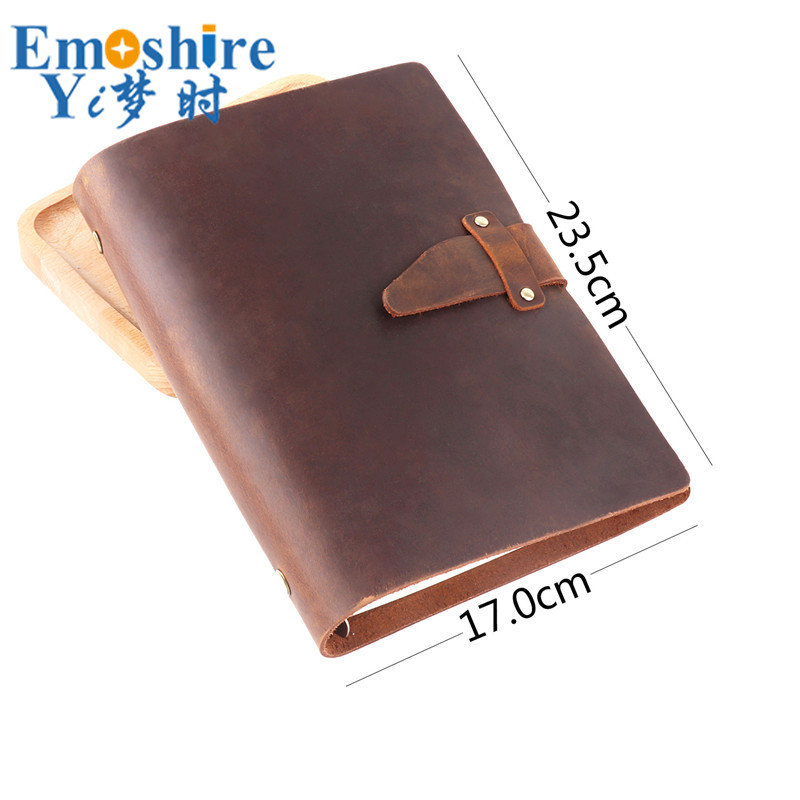 A5 Leather Retro Loose-leaf Notebook Diary Office Business Simple Notepad Crazy Horse Leather Hand Note Book Customization N155A5 Leather Retro Loose-leaf Notebook Diary Office Business Simple Notepad Crazy Horse Leather Hand Note Book Customization N155