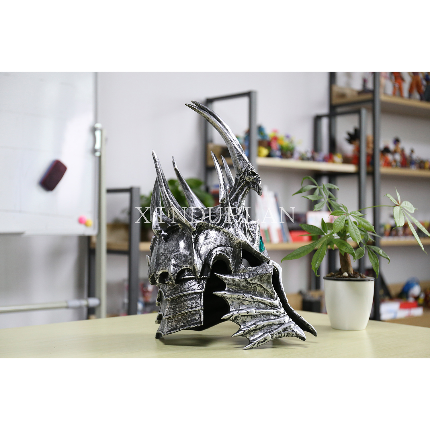 XINDUPLAN NEW Dota 2 Arthas Menethil Lich King Anime Cosplay 1/1 Action Figure Toys Juguete 46cm Kids Collection Model 0387 world of wow arthas menethil lich king deluxe action figure statue nib
