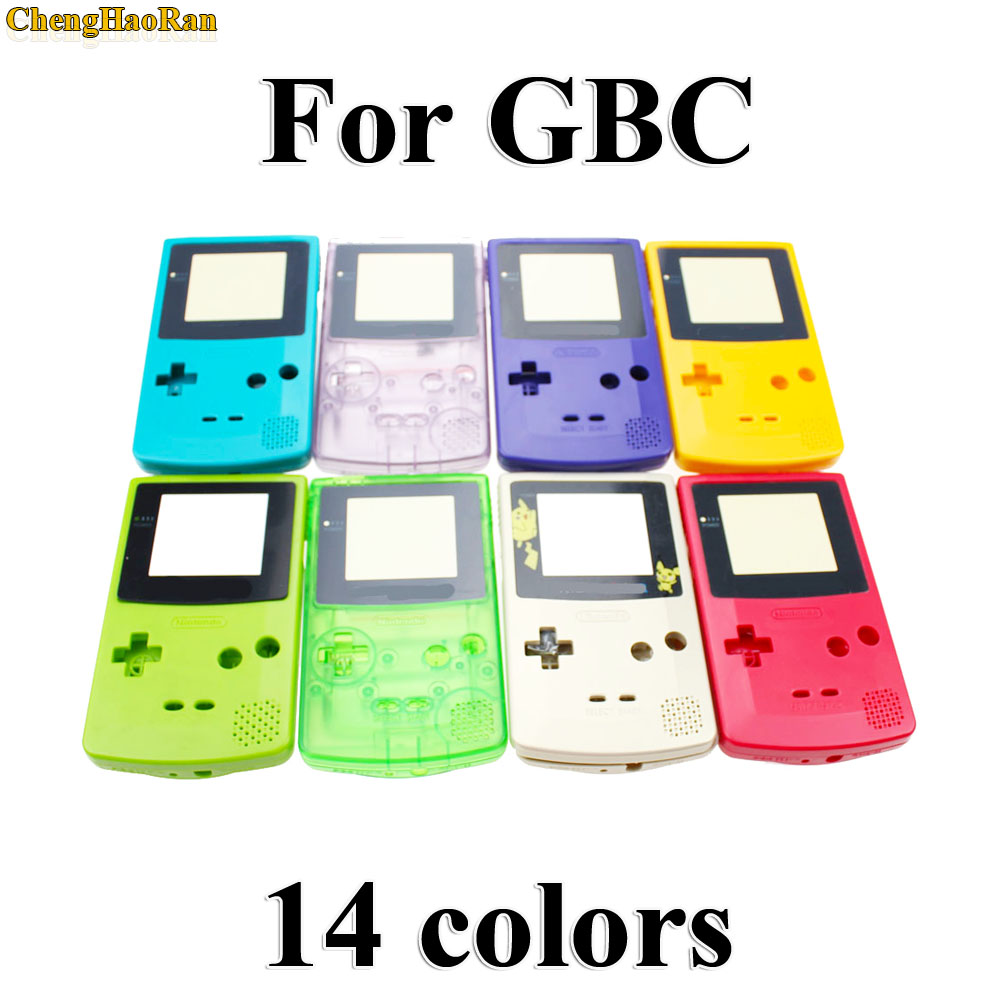 ChengHaoRan 1 set New Full Housing Shell Cover Case for Nintendo Game boy Color GBC Replacement Repair Parts Pack kit-in Cases from Consumer Electronics
