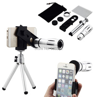 12X Optical Magnifier Zoom Telescope Lens+Camera Photo Tripod For iphone X 8 7 6 6S PLUS SE 5 For Huawei Phone Zoom lente A3 J8