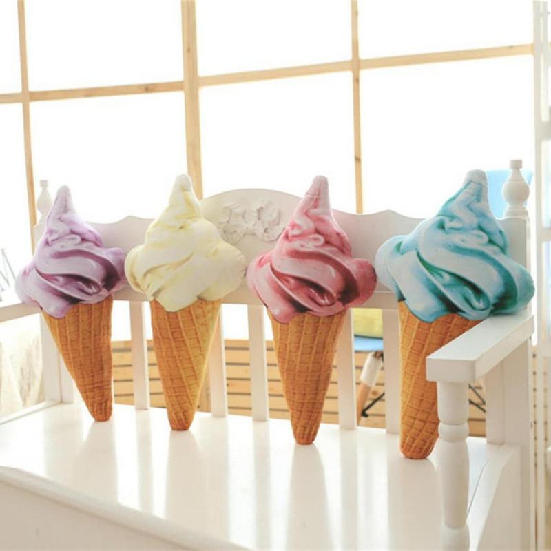 SBB Personalized gift wholesale lovely sofa pillow cushion ice cream decorativos para Bedroom Home Decor Short plush